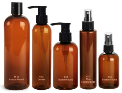 Amber PET Bottles for Aromatherapy Products