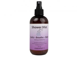 Breathe Easy Shower Mist Eucalyptus & Mint promotes comfortable, relaxed breathing, calms stress and anxiety, and opens up airways struggling with allergies.