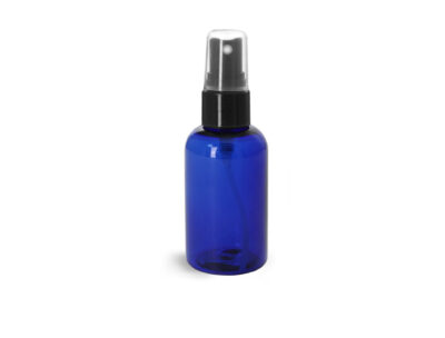 Blue PET bottles for aromatherapy spritzer, face mist, air fresheners, hand sanitizers