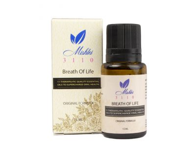 Mishlei 3110 Breath of Life essential oil blend enhances the effectiveness of your oral health care.