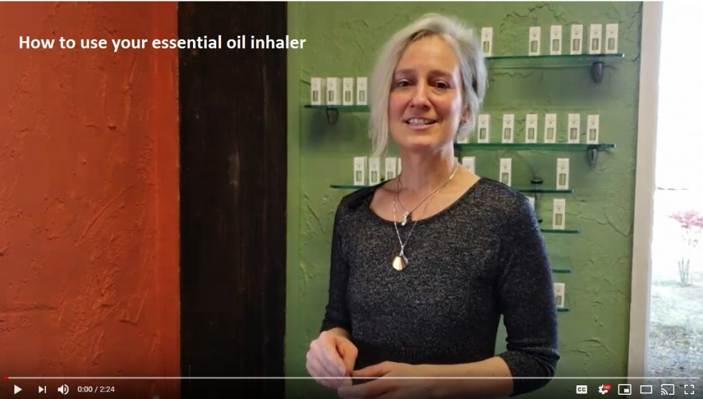 In this video, Lakita Dunkers shows how to use your essential oil inhaler
