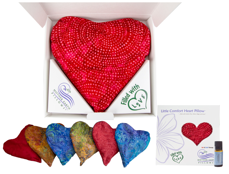 Buy The Little Comfort Heart Pillow™ on e3's Aromatherapy Gift Page to receive a special discount,. Choose fabric, herbal scent and soothing essential oils.