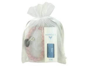 Elegant rose quartz aromatherapy diffuser bead bracelt