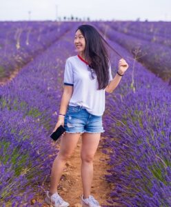 People who visit Lavender Fields Forever farm tell Caryn how tension or anxiety just melts away after a few minutes of being near those aromatic lavender fields!