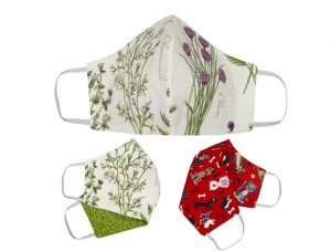 e3's one-size-fits-all, handmade cloth face masks are made from washable, 100% cotton fabric in a variety of fun patterns with three layers of protection.