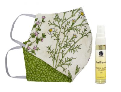 e3's cute, handmade cloth face mask and face mask spritzer combo set gives you extra protection and it makes wearing a mask more enjoyable and fun!