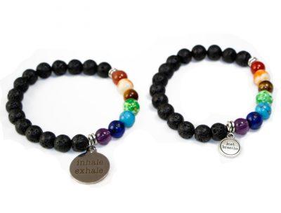 e3's minimalist lava rock essential oil diffuser bracelet