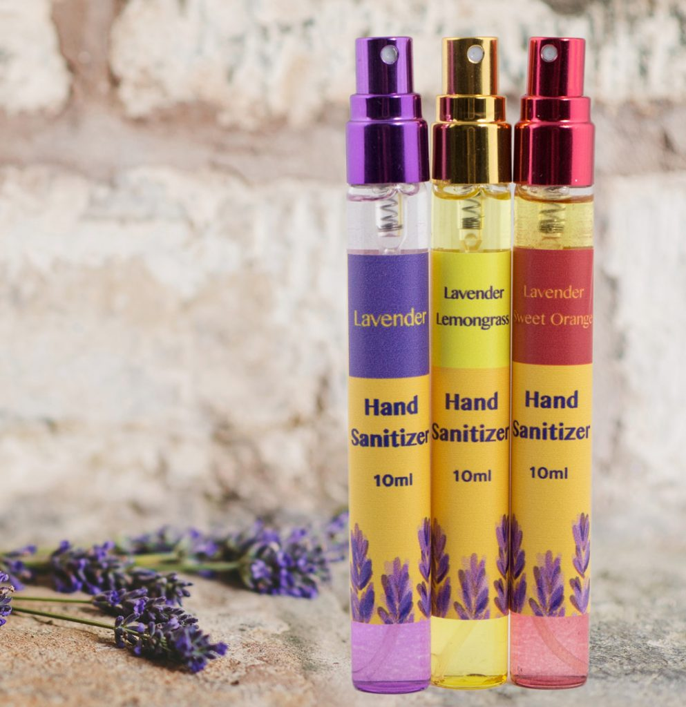 Use e3's safe, natural pocket lavender hand sanitizer so your hands feel soft, clean and are pleasantly fragrant.
