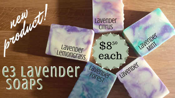 Our natural artisan soaps are luxurious, handcrafted bars made with love and some of our favorite e3 lavender essential oils and blends.