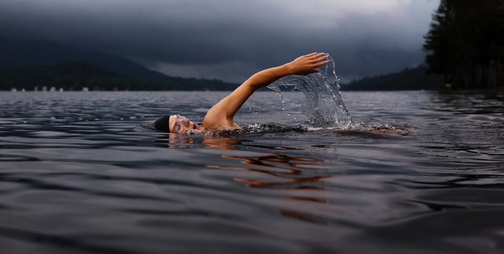 Use essential oils to help calm pre-race anxiety from open water swimming in your next triathlon