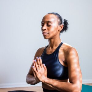Use e3's Zen Blend Roll-on for Zen Yoga or Meditation